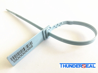 plastic security strap seal with bar code