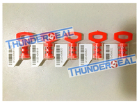meter seal with readable barcode on white foil by laser